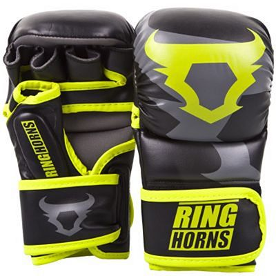 Ringhorns Charger Sparring Gloves Black-Yellow