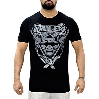 RoninWear Samurai Shield T-shirt Black-Grey