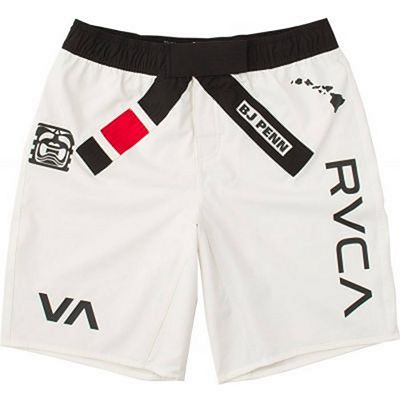 RVCA BJ Penn Legend Short Weiß