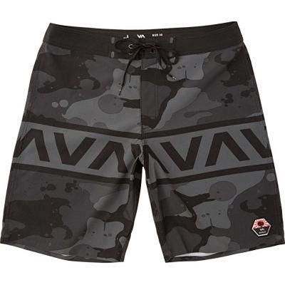 RVCA Bruce II Trunk 19 Inches Boardshorts Nero-Grigio