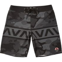 RVCA Bruce II Trunk 19 Inches Boardshorts Negro-Gris