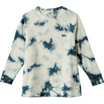 RVCA Clouded Fleece Hoody Blanco-Azul Marino