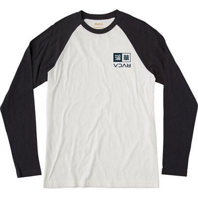 RVCA Kabuki Raglan LS T-shirt Blanco-Negro