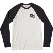 RVCA Kabuki Raglan LS T-shirt Branco-Preto