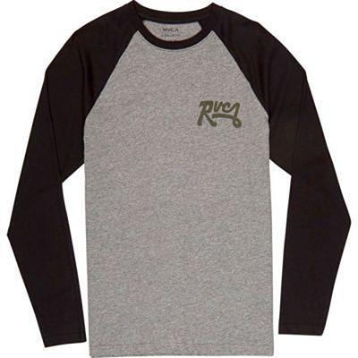 RVCA Loop Back Raglan LS T-shirt Szürke-Fekete