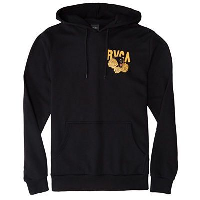 RVCA Panther And Roses Hoodie Black