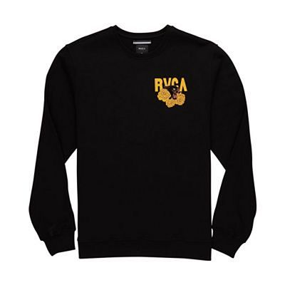 RVCA Panther And Roses Sweatshirt Schwarz