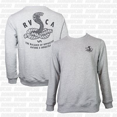 RVCA Rope Snake Crew Athletic Heather