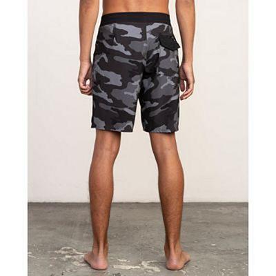 RVCA VA Print 19in Boardshort Grey-Black
