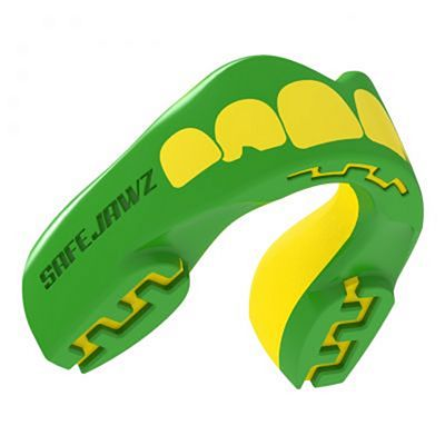 SafeJawz Extro Series Self-Fit Ogre Mouthguard Green-Yellow