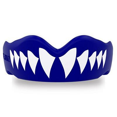 SafeJawz Extro Series Self-Fit Shark Mouthguard Blue-White