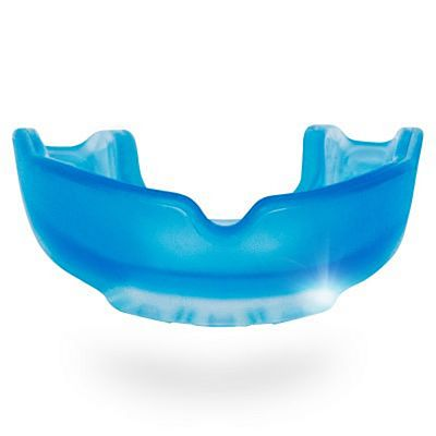 SafeJawz Ice Edition Adult Mouthguard Light Blue