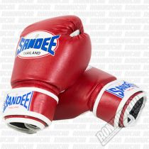 Sandee Authentic PU Kids Boxing Gloves Vermelho-Branco