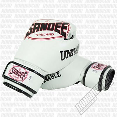 Sandee Cool-Tec PU Boxing Gloves Bianco