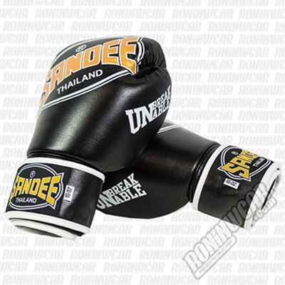 Sandee Cool-Tec Tone Leather Boxing Gloves Nero-Oro