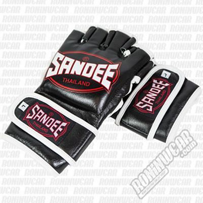 Sandee MMA Fight Gloves Leather Nero-Bianco