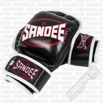 Sandee MMA Sparring Glove Leather Fekete-Fehèr
