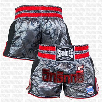 Sandee Supernatural Power Shorts Grey-Red