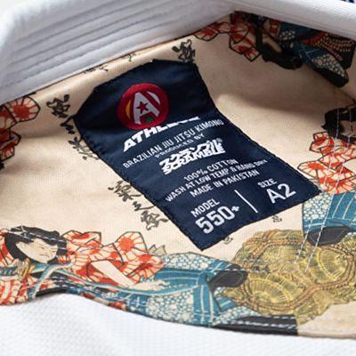 Scramble Athlete Kimono V4 550+ White