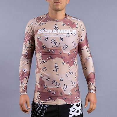 Scramble Base Rashguard Choc Chip Camo