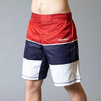 Scramble BWR Shorts Rouge-Bleu Marine
