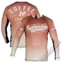 Scramble Coffee And Chokes Rashguard Marron