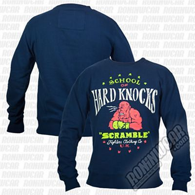 Scramble Hard Knocks Sweater Azul Marinho