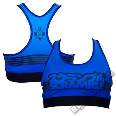 Scramble Sports Bra Azul-Preto