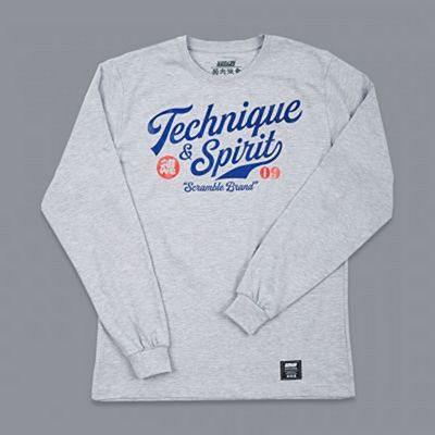 Scramble Technique And Spirit LS Tee Cinza