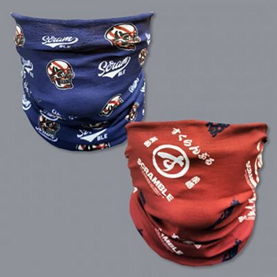 Scramble Vagabond Mask Scarf Logos Double Pack Blue-Red