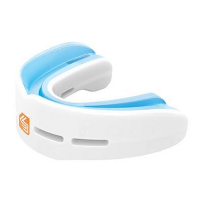 Shock Doctor Double Nano Fight Mouthguard White-Light Blue