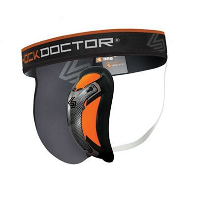 Shock Doctor Coquilla Carbon Flex & Suspensorio Ultra Pro Gris