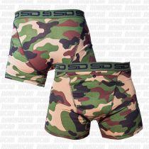 Smuggling Duds Jungle Camo Men Boxer Shorts Verde-Marron