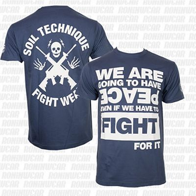 Soiltechnique Fight For It T-shirt Navy Blu