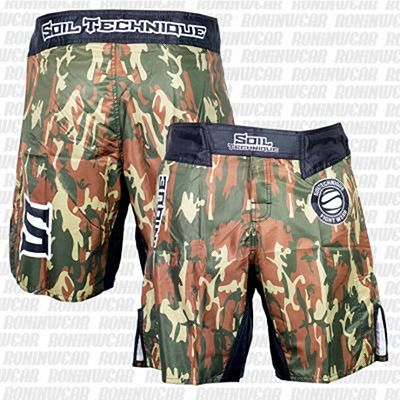 Soiltechnique MMA Short ST Camo Marron-Verde