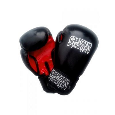 Spartans Boxing Gloves PU Black-Red