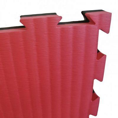 Sportief Tatami Puzzle Mat 4cm 1m2 Piece Black-Red