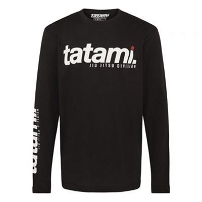 Tatami Base Collection - Black Long Sleeve T-Shirt Black-White