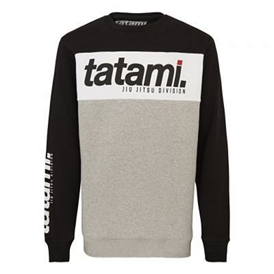 Tatami Base Collection - Black Tri-Panel Sweatshirt Black-White