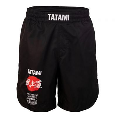 Tatami Bushido Black Grappling Shorts Musta