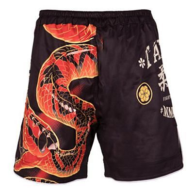 Tatami Duelling Snakes Shorts Black-Red