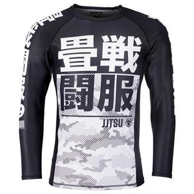 Tatami Essential Camo LS Rashguard Black-White