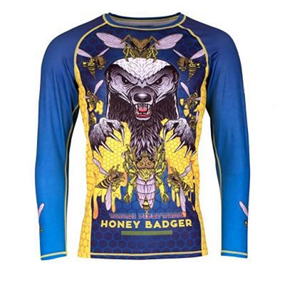 Tatami Honey Badger V5 Rash Guard Azul