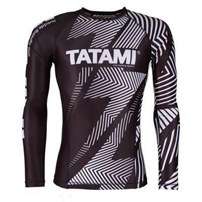 Tatami IBJJF LS Rank Rashguard Nero-Bianco