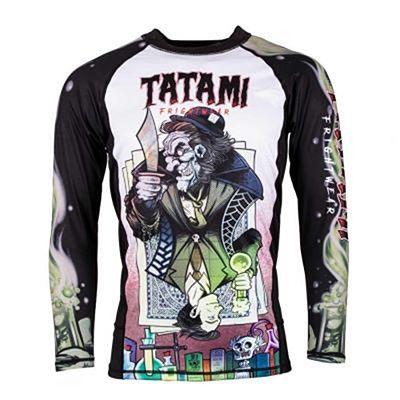 Tatami Jekyll & Hide Rashguard LS Schwarz-weiß