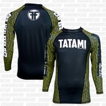 Tatami Kanji Black Friday Rash Guard Schwarz-Gelb