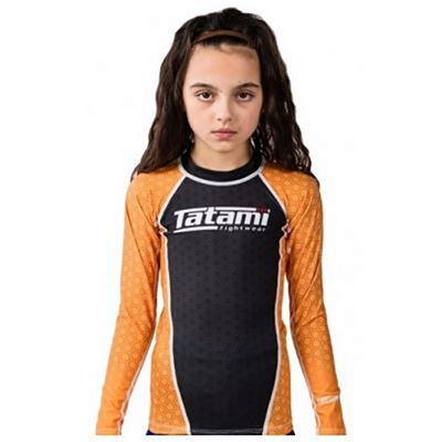 Tatami Kids IBJJF Rank Rashguard Black-Orange