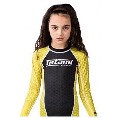 Tatami Kids IBJJF Rank Rashguard Black-Yellow
