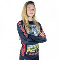Tatami Kids X Iron Maiden Number Of The Beast Rashguard Negro