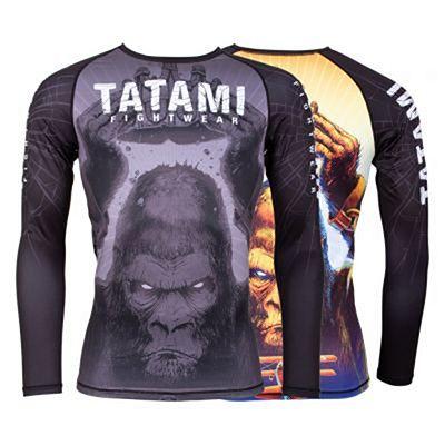 Tatami King Kong Long Sleeve Rash Guard Black